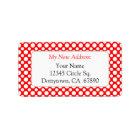 White Red Polka Dots Custom New Address Lables Label