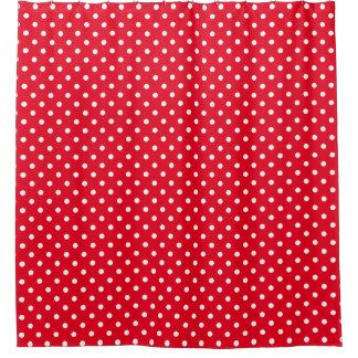 White RED Polka Dots Pattern Custom Background