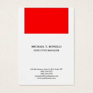 White red  professional minimalist plain elegant business card