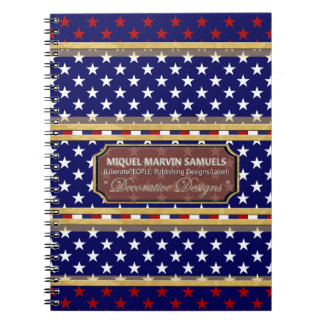 White Red Stars America Colors Modern Notebook