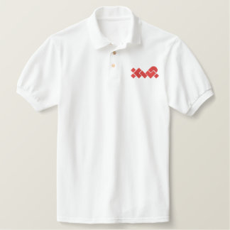 White/Red XWP Embroidered Polo