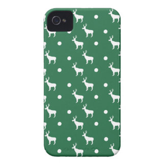White Reindeer iPhone 4/4S Case-Mate Barely There