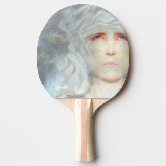 White Renaissance Ping Pong Paddle