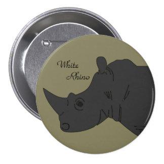 """White Rhino 3"""" Button"""