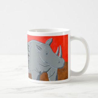 White Rhino  at Sunset Mug