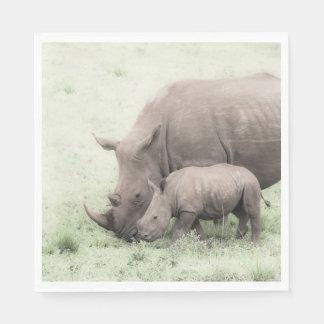 White Rhino & Baby Napkins Disposable Napkin
