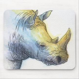 White Rhino Mouse Pad