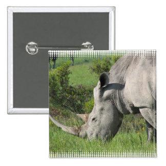 White Rhino Pin