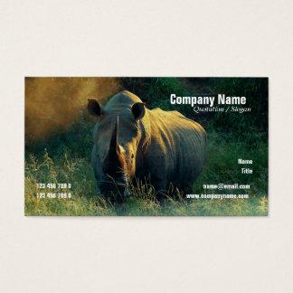 white rhino safari profile cards - customizable