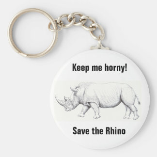 White Rhino wildlife key ring