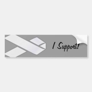 White Ribbon Bumper Sticker