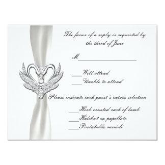White Ribbon Silver Swans Response Card