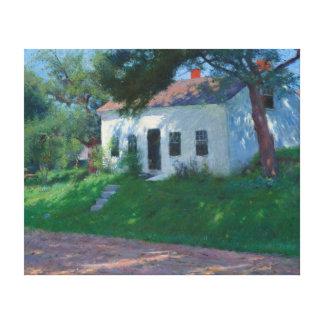 White Roadside Cottage by Dennis Miller Bunker Canvas Print