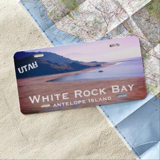 White Rock Bay, Antelope Island Utah Landscape License Plate