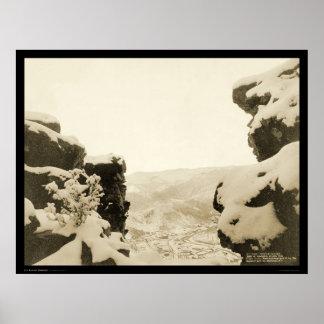 White Rocks Deadwood SD 1887 Poster