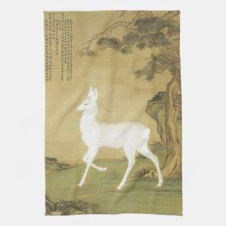 White Roe Deer Asian Wildlife Woods Kitchen Towel