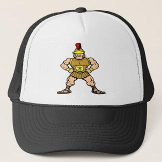White Roman Spartan Warrior Trucker Hat