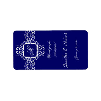 White Romance Monogram Lip Balm Sticker