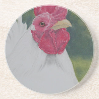 White Rooster Coaster