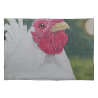 White Rooster Placemat