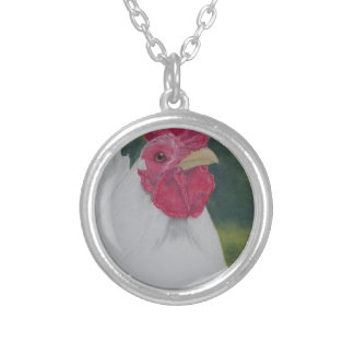 White Rooster Silver Plated Necklace