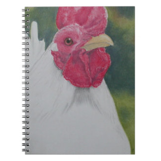 White Rooster Spiral Notebook