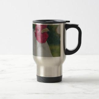 White Rooster Travel Mug