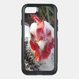 White Rooster With Black Speckles, OtterBox Commuter iPhone 8/7 Case