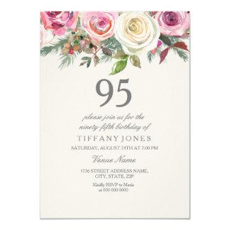 White Rose 95th 96th 97th 98th 99th Birthday Card