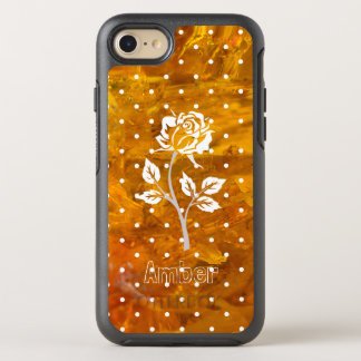 White rose amber background OtterBox symmetry iPhone 8/7 case