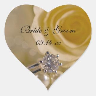 White Rose and Pearls Wedding Envelope Seals