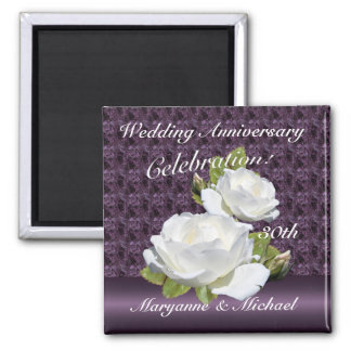 White Rose Anniversary Party Magnets