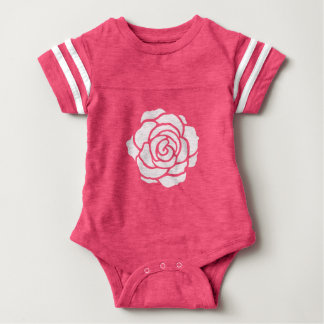 White Rose Baby Bodysuit