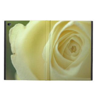 white rose blossom iPad case