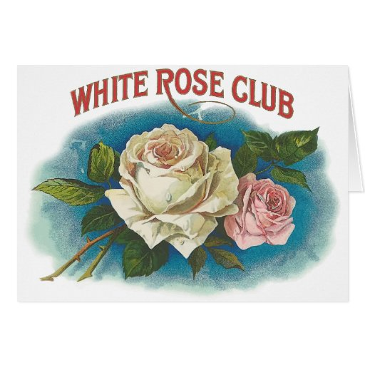 White Rose Club Greeting Card