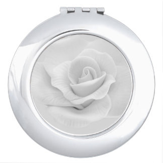 White Rose Compact Mirror