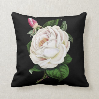 White Rose Cotton Pillow