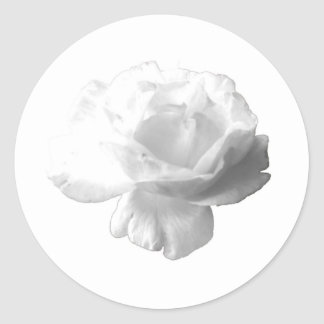 White Rose Design Classic Round Sticker