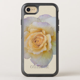 White Rose Floral Flower OtterBox Symmetry iPhone 7 Case
