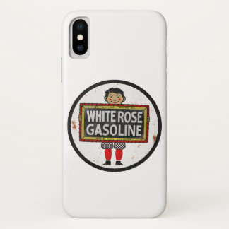 White Rose Gasoline vintage sign rusted version. Case-Mate iPhone Case