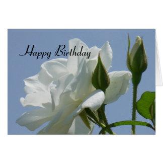 White Rose - Happy Birthday Card