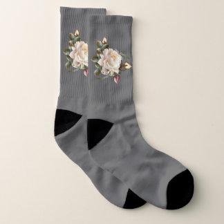 White Rose Large All-Over-Print Socks