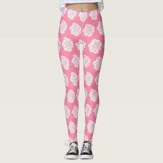 White Rose Leggings
