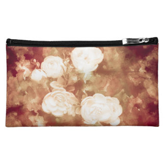 White Rose Makeup Bags