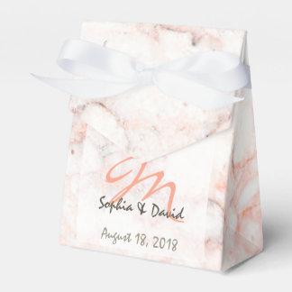 White Rose Marble Monogram Wedding Favor Favor Box