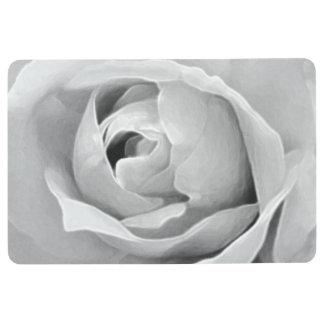 White Rose Monochrome Elegance Floor Mat