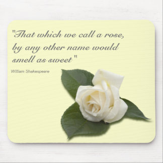 White Rose Mousepad