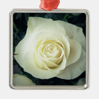 White Rose Mug Metal Ornament