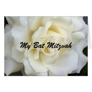 White Rose, My Bat Mitzvah Card