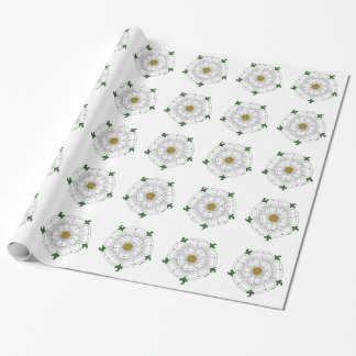 White Rose of York Wrapping Paper